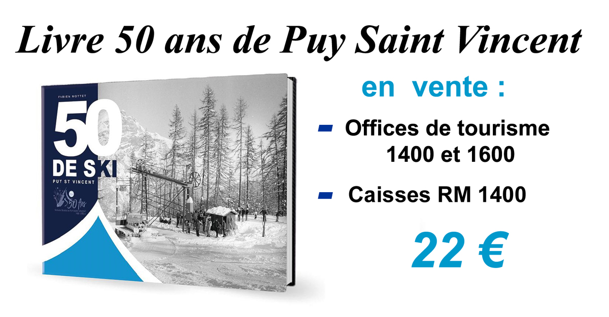 book of 50 years of Puy Saint Vincent resort here